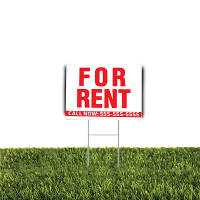 For Rent Yard Sign 2pc