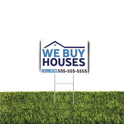 We Buy Houses Yard Sign 2pc