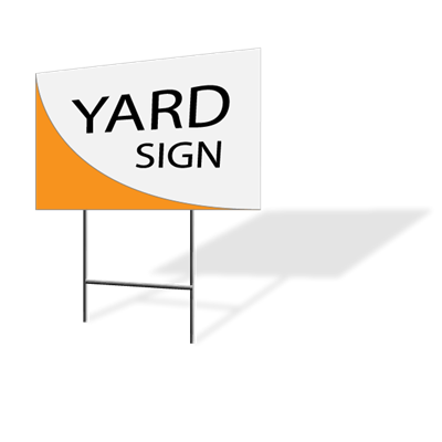 "2pc Custom Yard Sign 24"" x 18"""